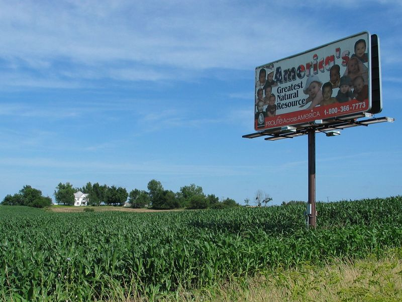 """Pro-Life Across America"" billboard near Kansas City, Missouri, in the summer of 2004. Copyright © 2004 Michael T. Doughney, all rights reserved."