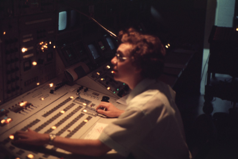 WMAR-TV Master Control Position, 1976