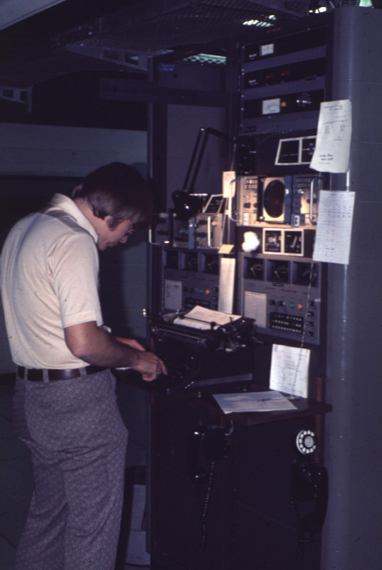 WMAR-TV transmitter control racks, 1976