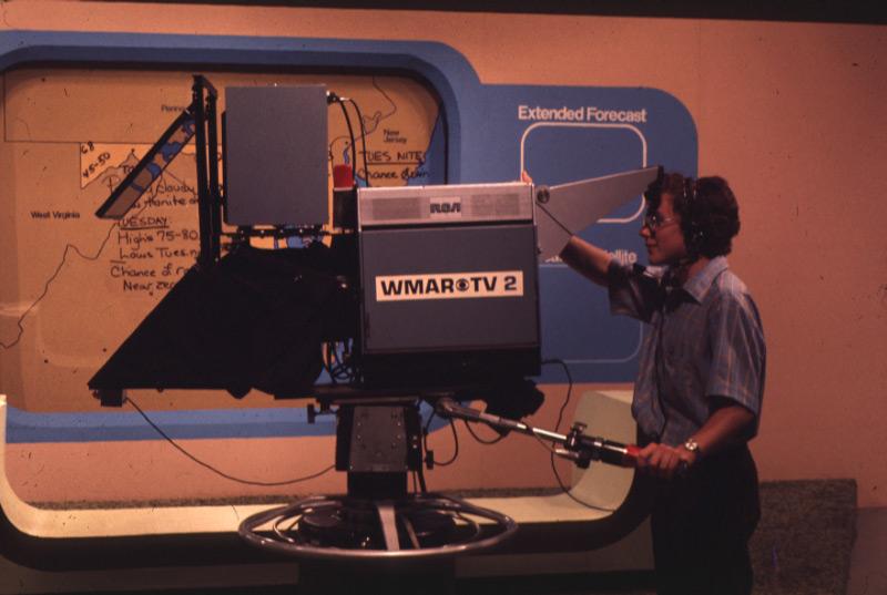 WMAR-TV Studio camera, 1976