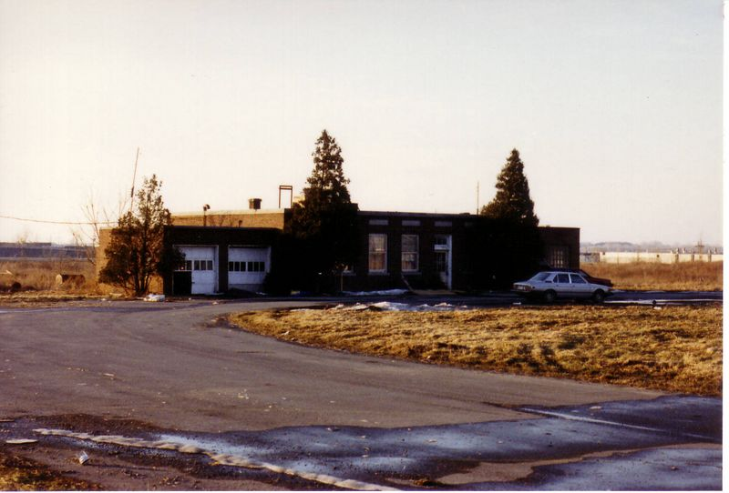 WFBL abandoned studio building 1986