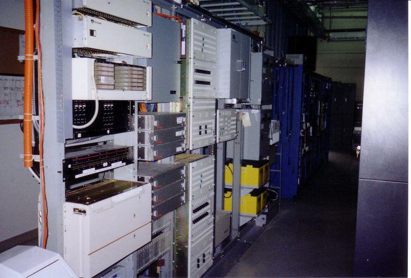 Communications and telecom racks.