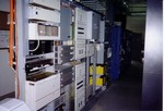 Communications and telecom racks.