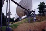 More earth station antennae.