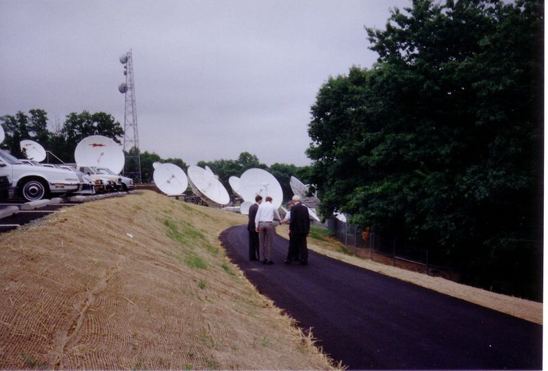 Looking back toward the old WT and PBS facilities.