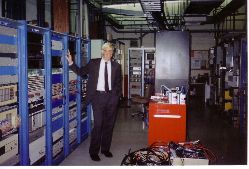 Pete strikes a pose in the rack room.