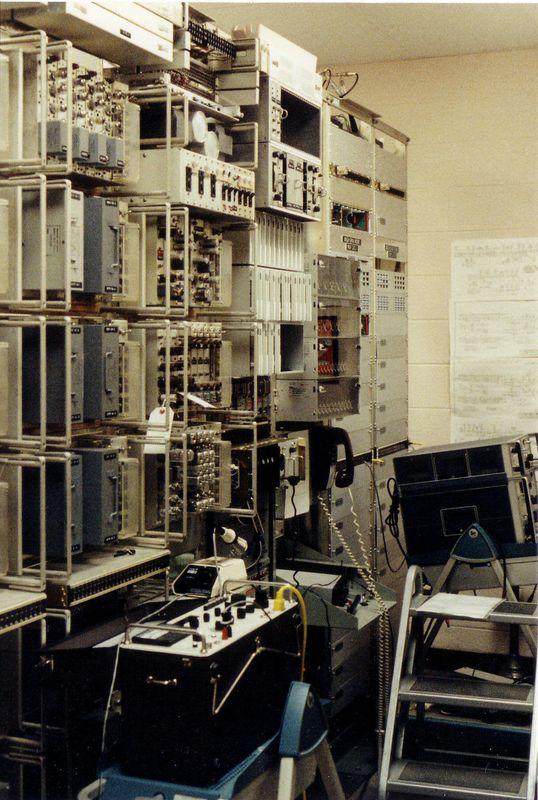 Communications racks at Site C.