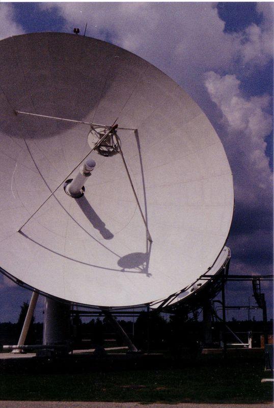 Satellite antenna at Site C
