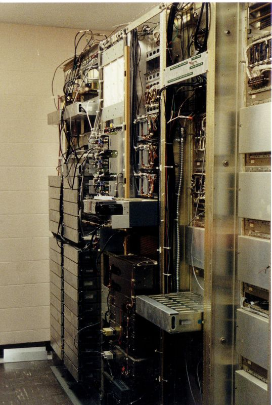 Communications racks at Site C.