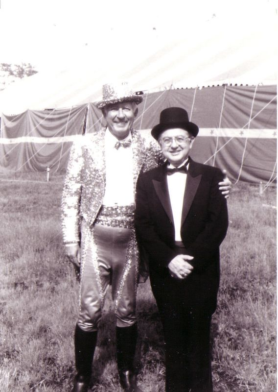 Jim Lowery (r.) at the Circus